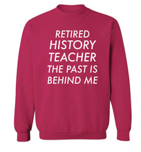 Retired history teacher the past is behind me Adult's unisex pink Sweater 2XL