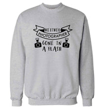 Retired photographer gone in a flash Adult's unisex grey Sweater 2XL