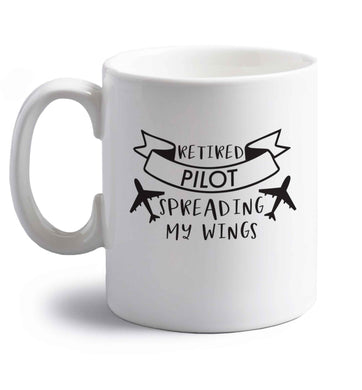 Retired pilot spreading my wings right handed white ceramic mug