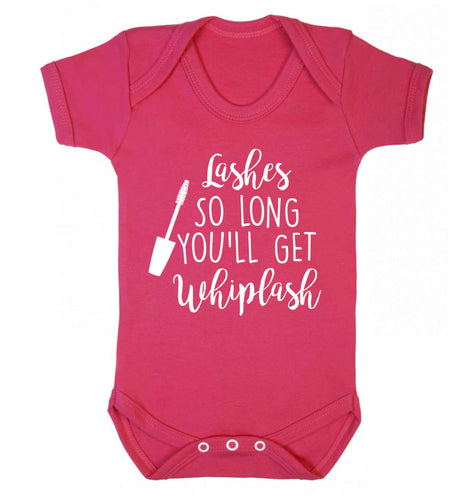 Lashes so long you'll get whiplash Baby Vest dark pink 18-24 months