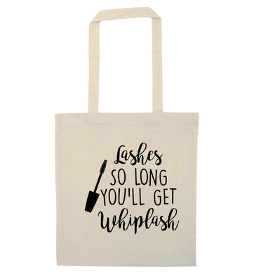 Lashes so long you'll get whiplash natural tote bag