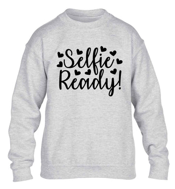 Selfie ready children's grey sweater 12-13 Years