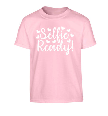 Selfie ready Children's light pink Tshirt 12-13 Years