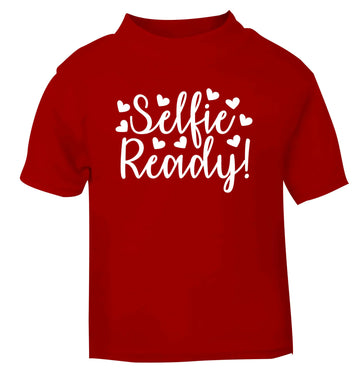 Selfie ready red Baby Toddler Tshirt 2 Years