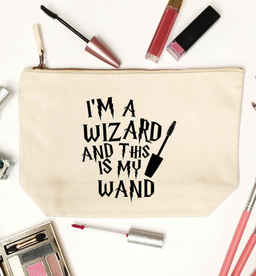 I'm a wizard and this is my wand natural makeup bag