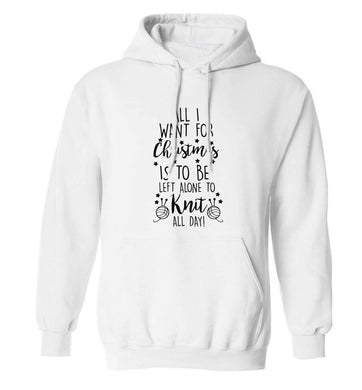 Merry Christmas adults unisex white hoodie 2XL