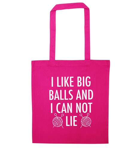 I like big balls and I can not lie pink tote bag