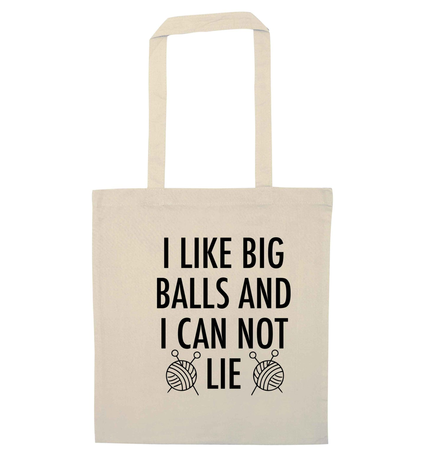 I like big balls and I can not lie natural tote bag