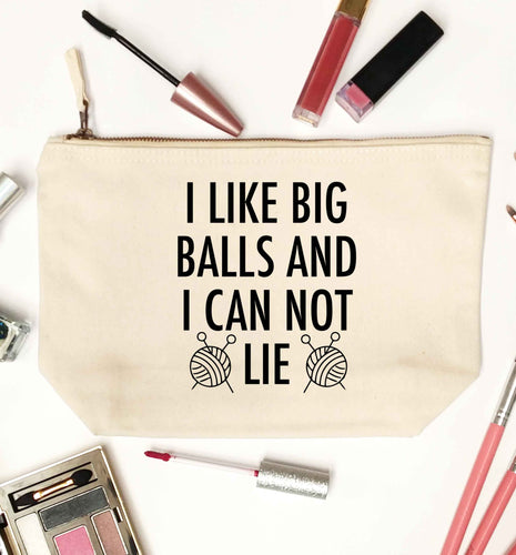 I like big balls and I can not lie natural makeup bag