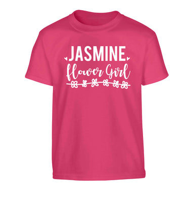 Personalised flower girl Children's pink Tshirt 12-13 Years