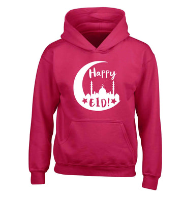 Happy Eid children's pink hoodie 12-13 Years