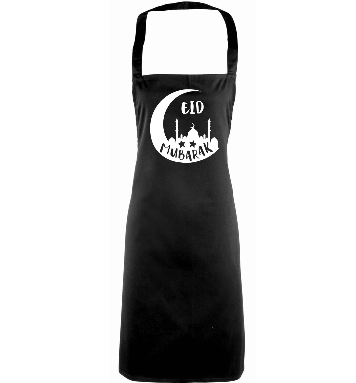 Eid mubarak adults black apron