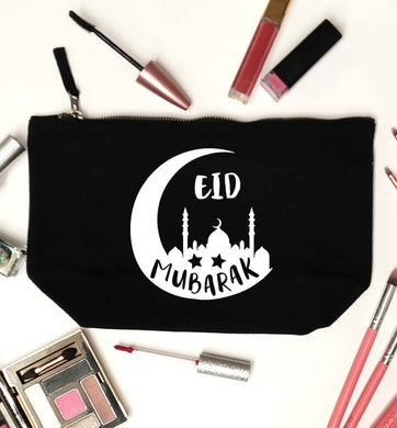 Eid mubarak black makeup bag