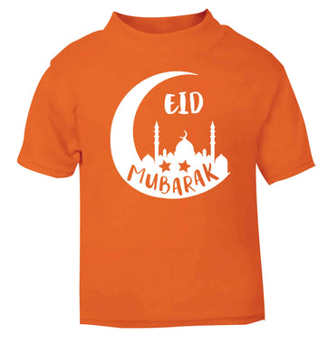 Eid mubarak orange baby toddler Tshirt 2 Years