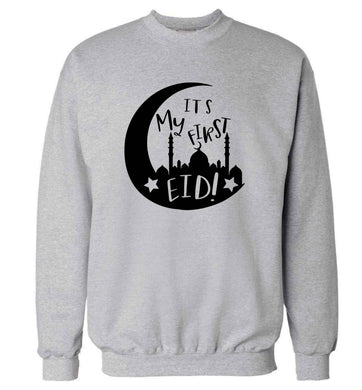 It's my first Eid moon adult's unisex grey sweater 2XL