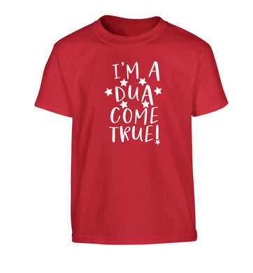 I'm a dua come true Children's red Tshirt 12-13 Years