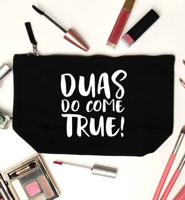 Duas do come true black makeup bag