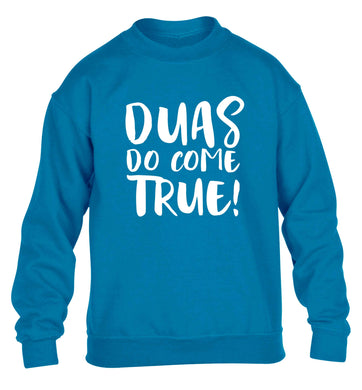 Duas do come true children's blue sweater 12-13 Years