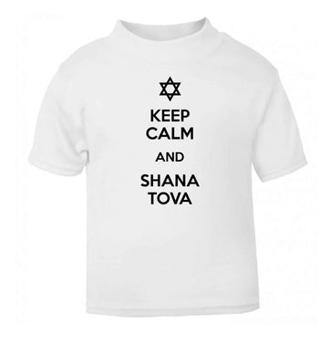 Keep calm and shana tova white Baby Toddler Tshirt 2 Years