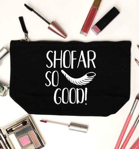 Shofar so good! black makeup bag
