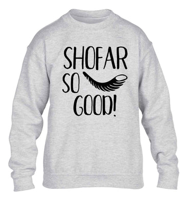 Shofar so good! children's grey sweater 12-13 Years