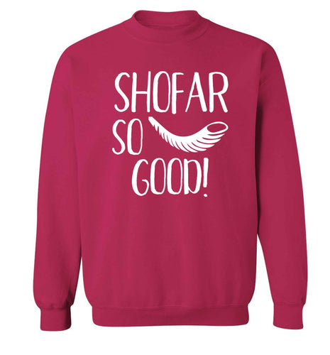 Shofar so good! Adult's unisex pink Sweater 2XL