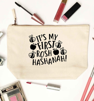Its my first rosh hashanah natural makeup bag