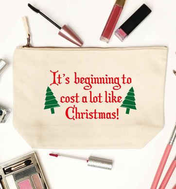 It's beginning to cost a lot like Christmas natural makeup bag