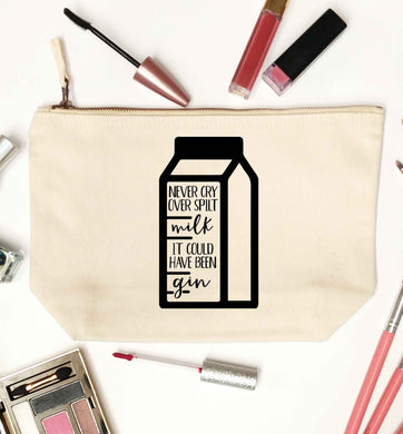 Never cry over spilt milk, it could have been gin natural makeup bag