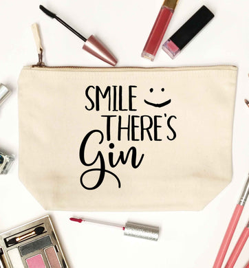 Smile there's gin natural makeup bag