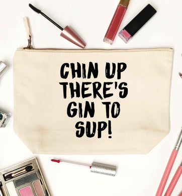 Chin up there's gin to sup natural makeup bag