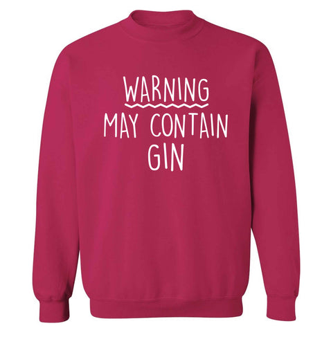 Warning may contain gin Adult's unisex pink Sweater 2XL