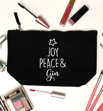 Joy peace and gin black makeup bag