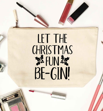 Let the christmas fun be-gin natural makeup bag