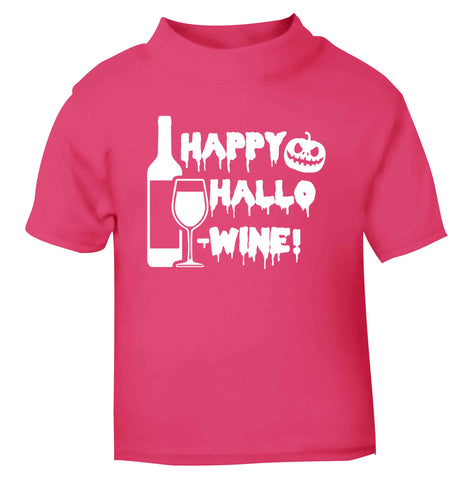Happy hallow-wine pink Baby Toddler Tshirt 2 Years