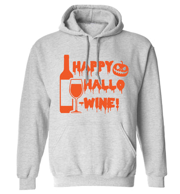 Happy hallow-wine adults unisex grey hoodie 2XL