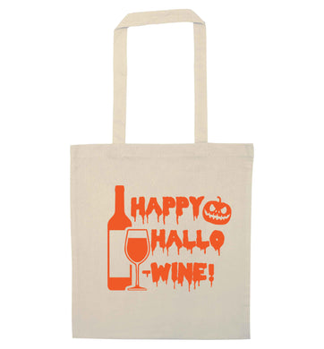Happy hallow-wine natural tote bag