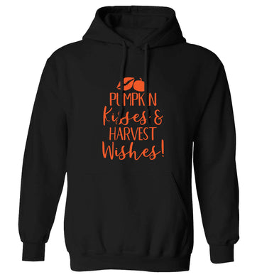Pumpkin Kisses Harvest adults unisex black hoodie 2XL