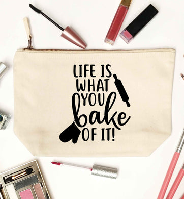 Life is what you bake of it natural makeup bag