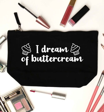 I dream of buttercream black makeup bag