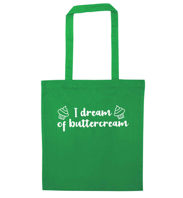 I dream of buttercream green tote bag