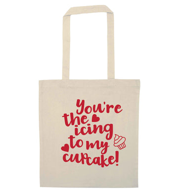 You're the icing to my cupcake natural tote bag