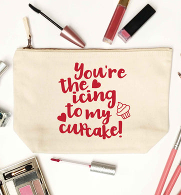 You're the icing to my cupcake natural makeup bag