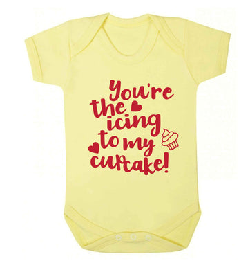 You're the icing to my cupcake Baby Vest pale yellow 18-24 months