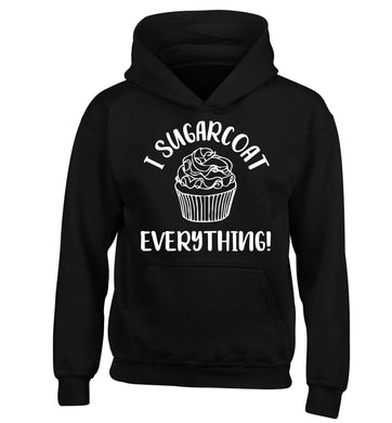 I sugarcoat everything children's black hoodie 12-13 Years