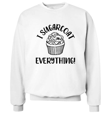 I sugarcoat everything Adult's unisex white Sweater 2XL