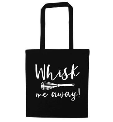 Whisk me away black tote bag