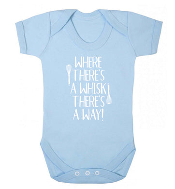 Where there's a whisk there's a way Baby Vest pale blue 18-24 months