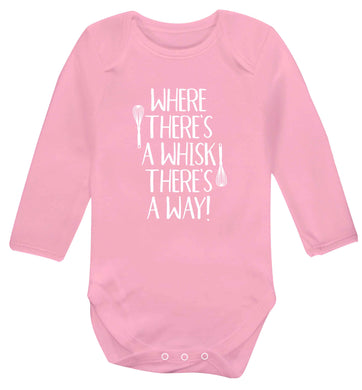 Good things come to those that bake Baby Vest long sleeved pale pink 6-12 months