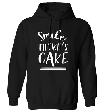 Smile there's cake adults unisex black hoodie 2XL